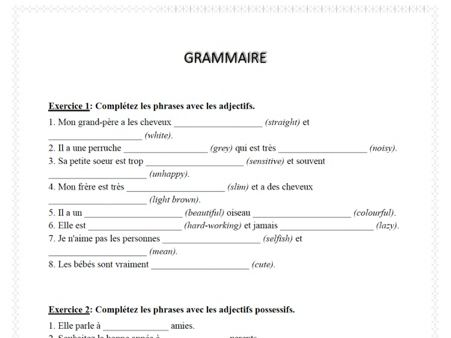 Revise 6 French grammar rules including reflexive verbs and possessive adjectives