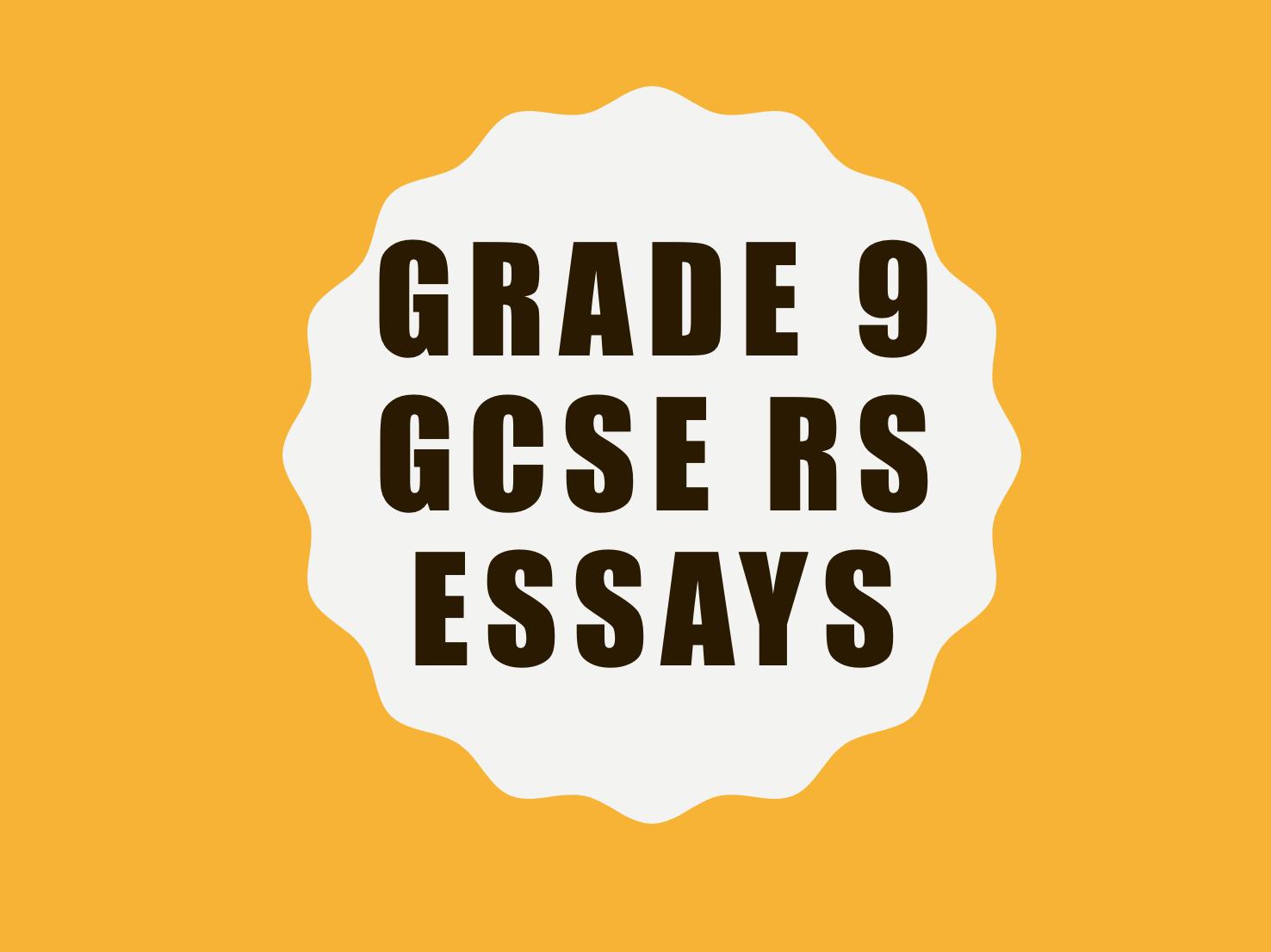 GRADE 9 - EXAMPLE ESSAY - WJEC RS GCSE