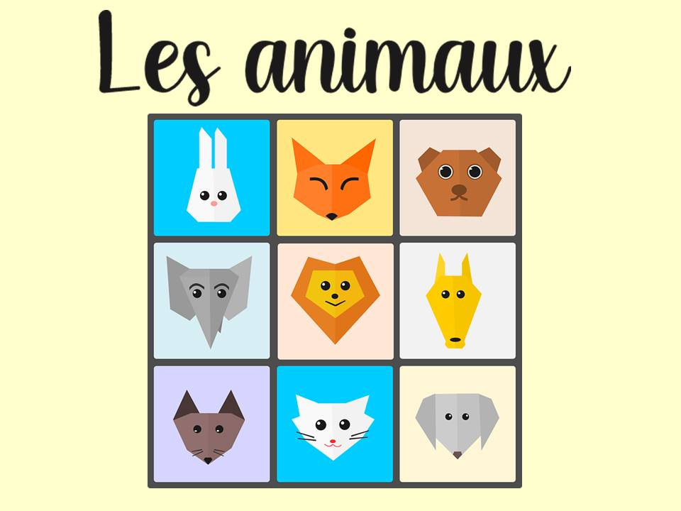Animals in French- Les animaux