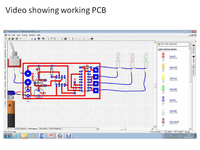 How 2 create E-Textiles PCB flashing LEDs 555/ 555 to 4017 range of circuits plus examples