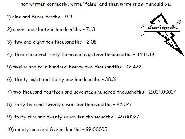 Decimals Practice Sheets 9 Worksheets By Dfilipek
