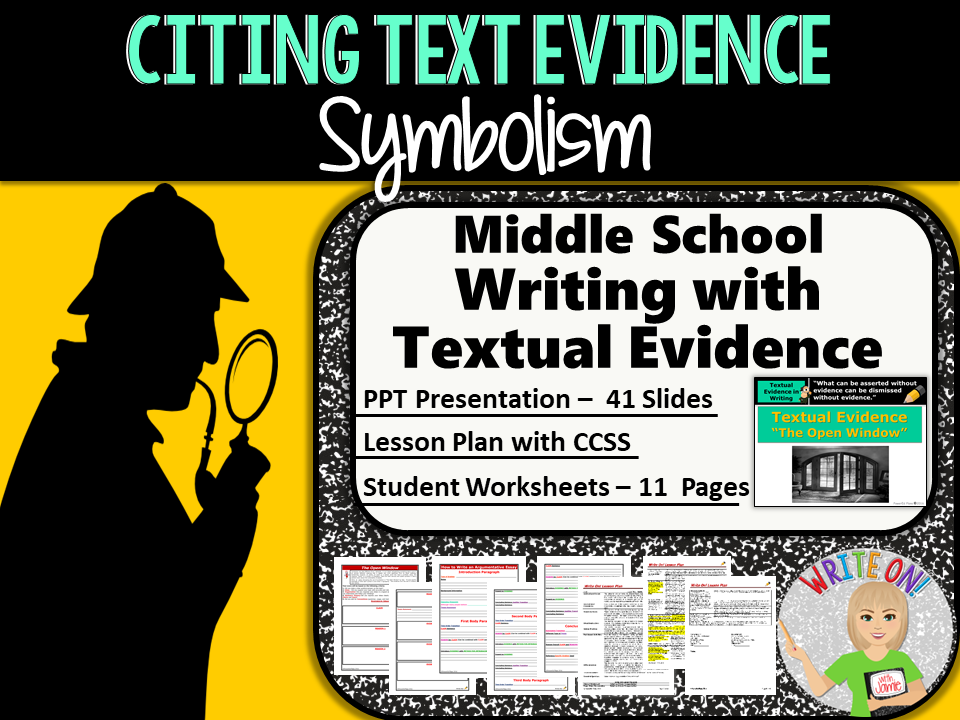 Text Evidence Constructed Response Prompt Symbolism Middle