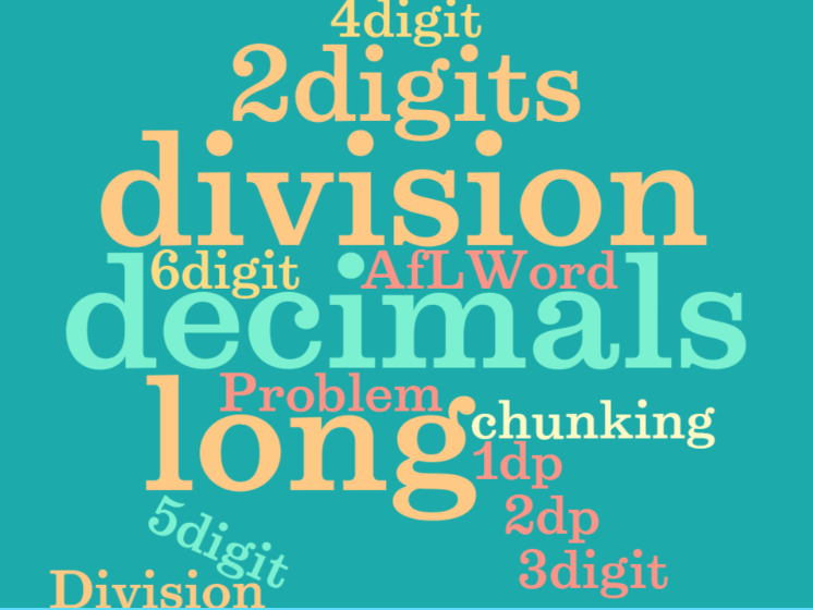UKS2 (Year 5 and Year 6) to use formal written methods of long division including decimal numbers
