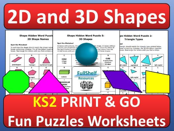 Shape Worksheets KS2