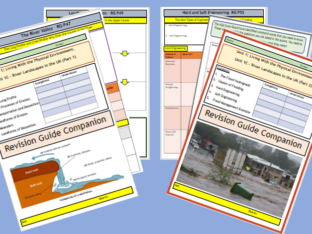 Coastal and River Landscapes AQA 9-1 GCSE Flipped Learning Revision Booklets