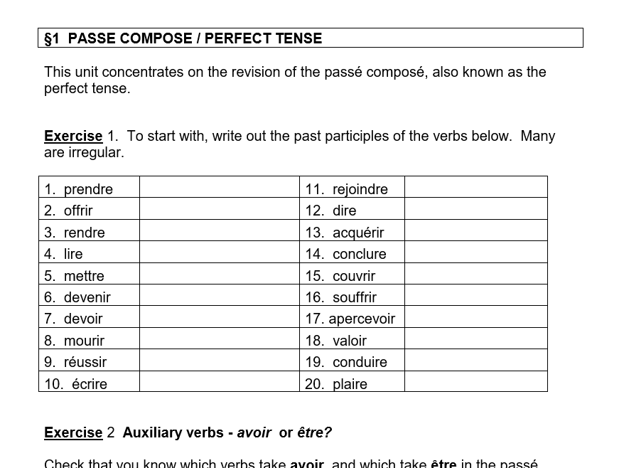 French A level Grammar Booklet