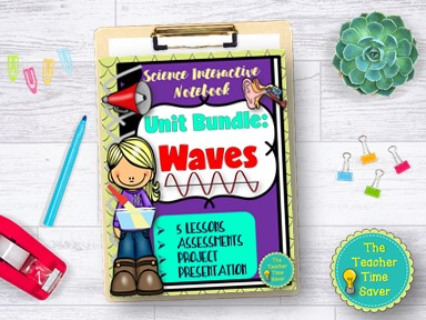 Waves Light and Sound Notebook Bundle
