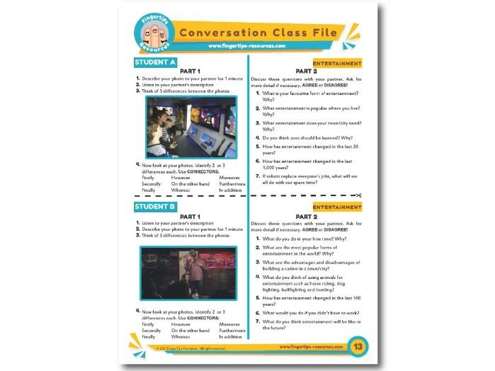 Entertainment - ESL Conversation Activity