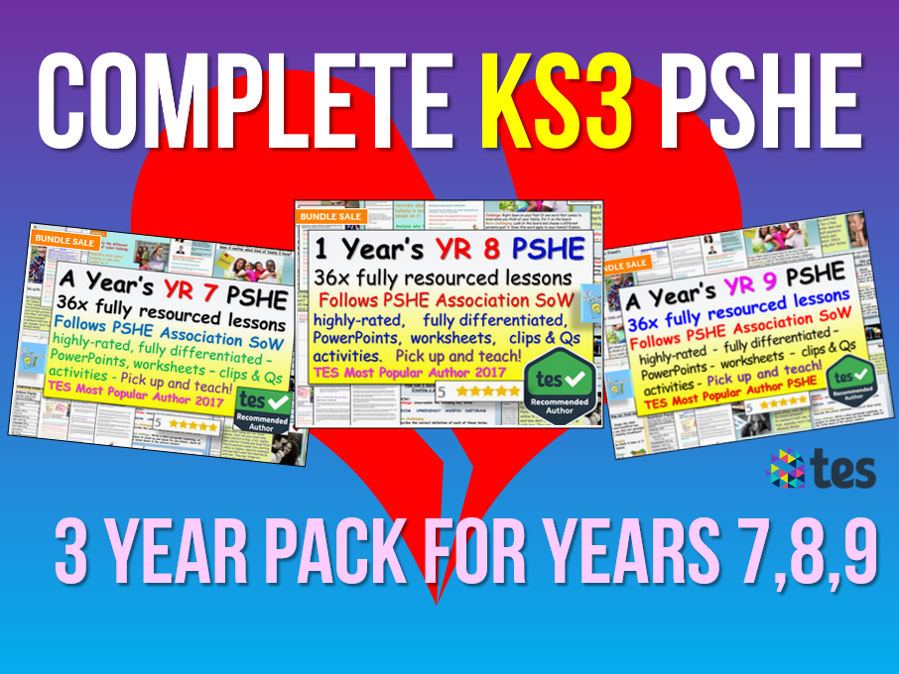 PSHE: 3 Years of KS3 PSHE