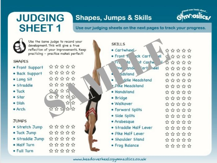 Gymnastics Assessment Sheets