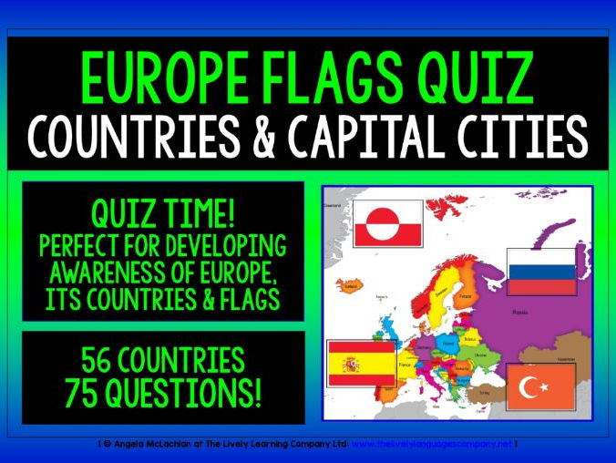 GEOGRAPHY EUROPEAN COUNTRIES & FLAGS PRESENTATION & QUIZ