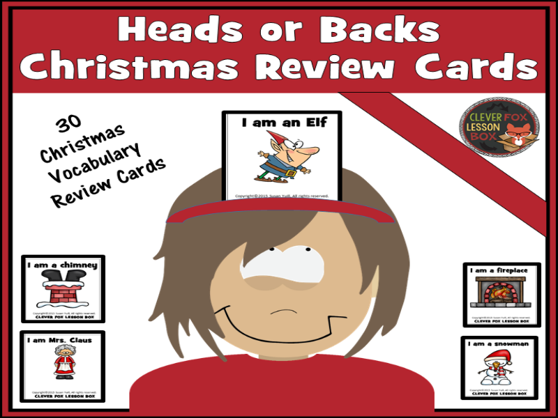 Christmas Words Review Cards