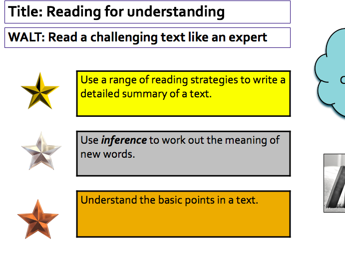Close Reading of Challenging Texts - full lesson for use in any subject