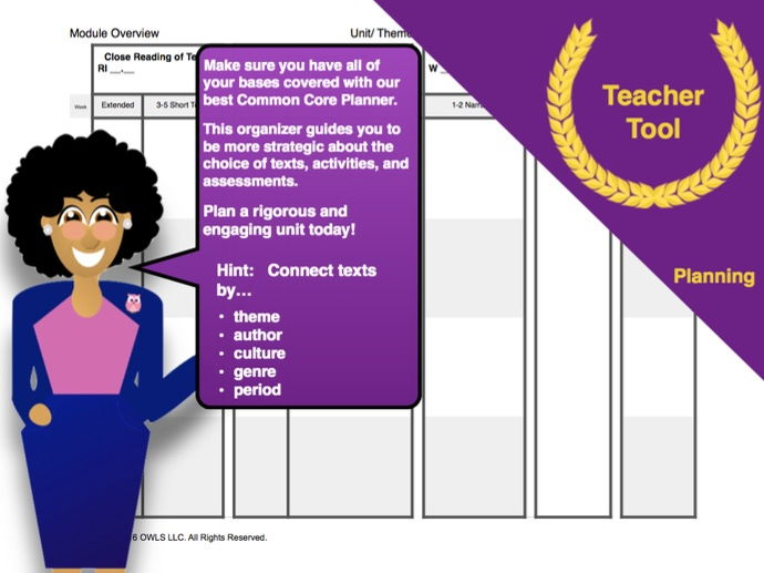 Common Core Module Planning Template