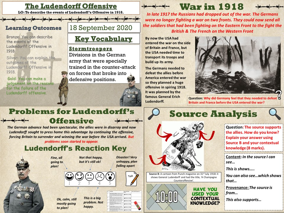 Conflict & Tension 1894 - 1918: The Ludendorff Offensive