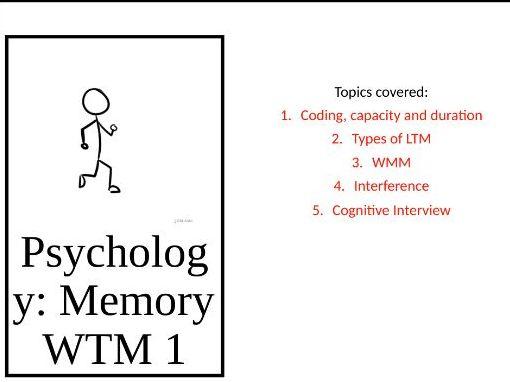 Memory Revision Walking talking mock AQA A Level Psychology