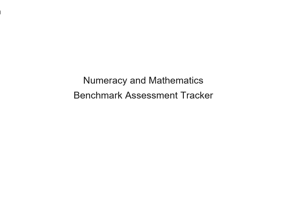Second Level Maths Benchmarks