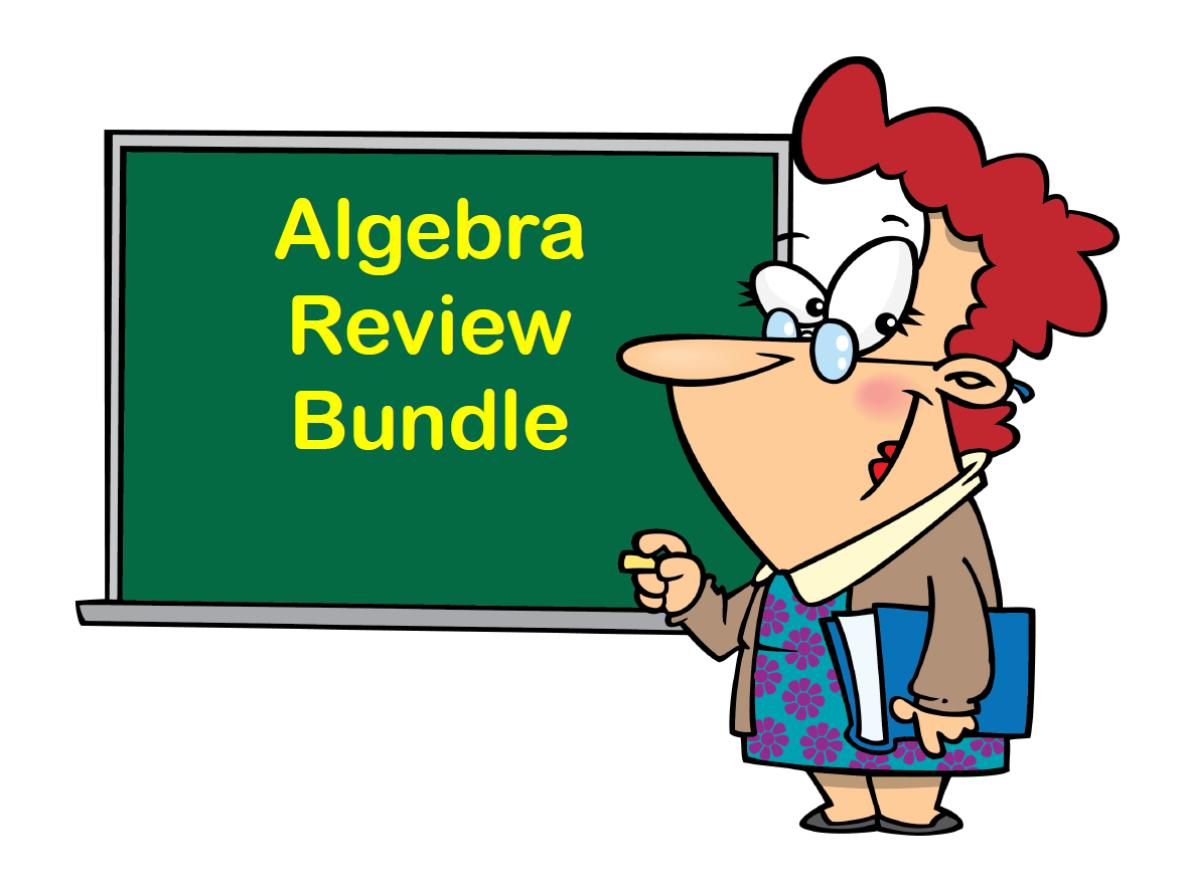 Algebra Review Bundle
