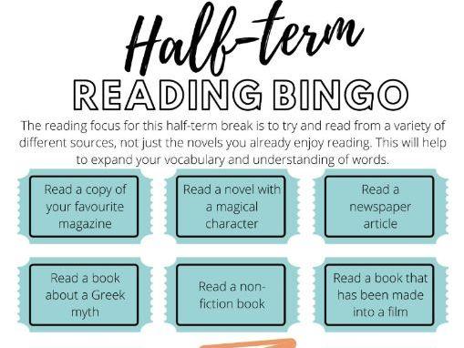February Half-Term Reading Bingo
