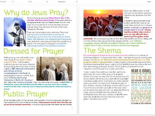Judaism: Prayer and Items for Worship: Differentiated Information and Task Sheets