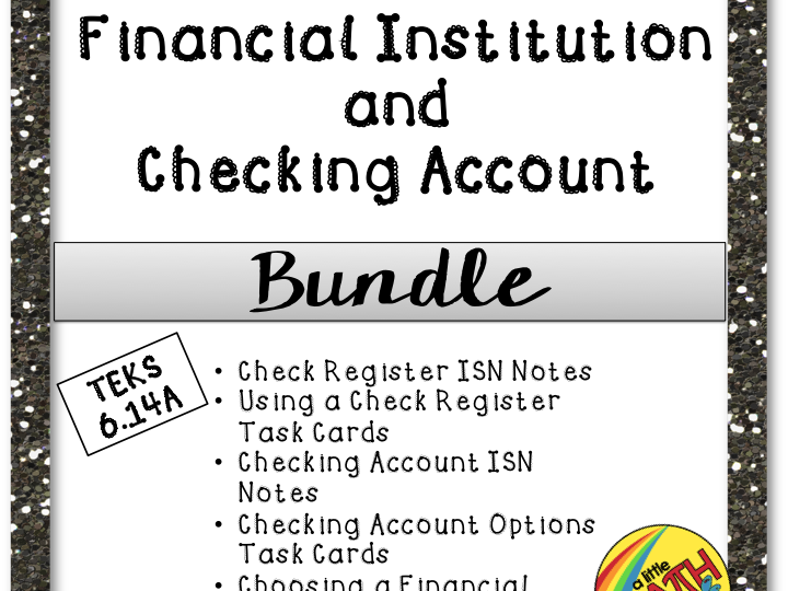 Financial Institution and Checking Account Bundle
