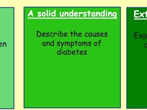 KS4 lesson - diabetes