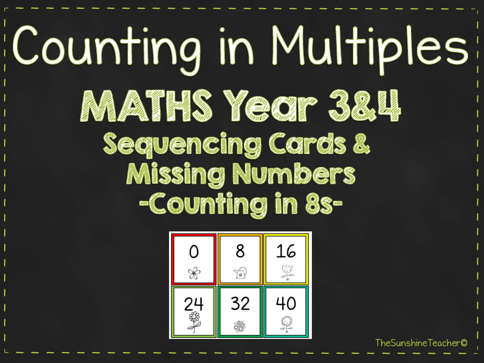 Multiples - Counting in 8s - Year 3&4 - Maths - Place Value