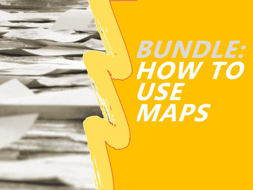 History and Geography Skills Bundle - Maps; compass, grid ref., contours, scale, symbols, projections.