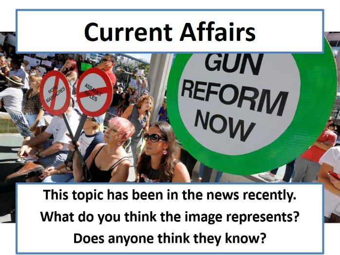 Current Affairs Form Time Activity - Florida School Shooting Aftermath