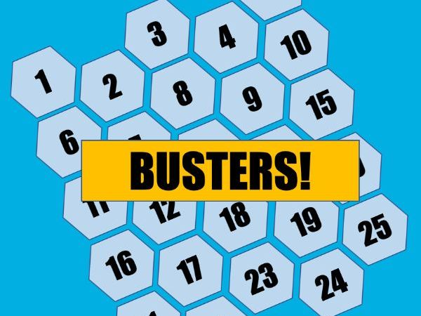 Busters / MathBusters (BlockBusters) Maths Game / Quiz Blank Template