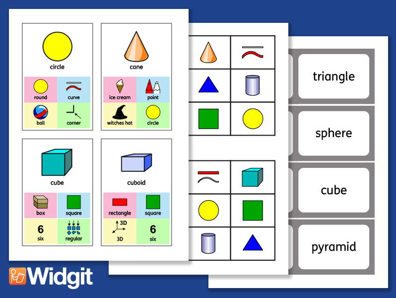 Geometry - Maths Games with Widgit Symbols