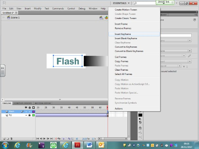 Creating Flash Masks