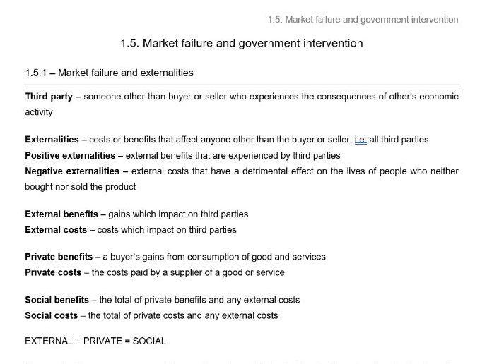 Edexcel Economics B - Theme 1.5 notes