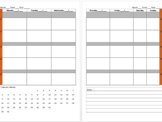 Year Long Teacher Diary