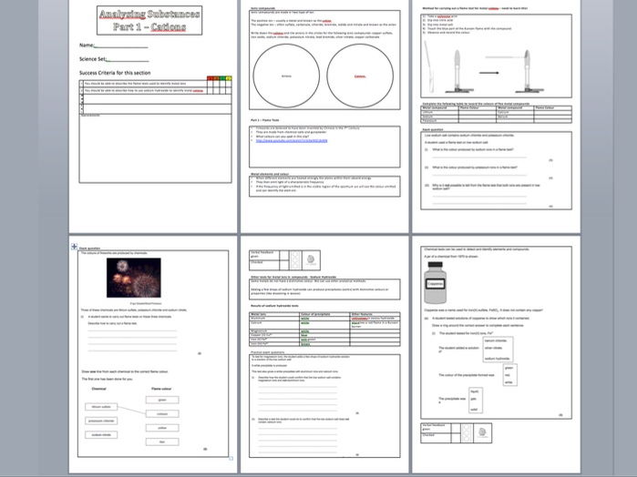 Aqa gcse c51 the reactivity series by teachallscience teaching aqa gcse worksheet on identifying metal cations in solution including activities and exam questions urtaz Images