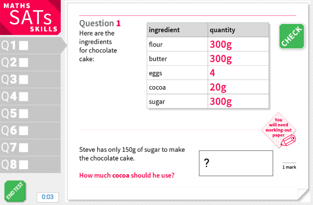 Solve problems with relative quantities - KS2 Maths Sats Reasoning - Interactive Exercises
