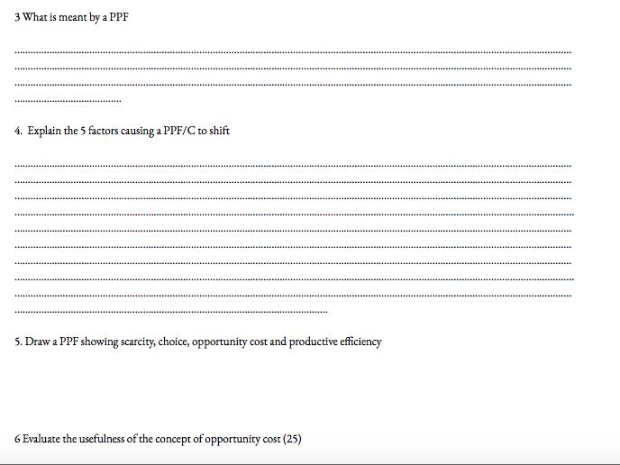 Microeconomics Past paper booklets