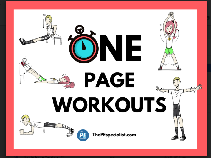 25 Exercise Station Signs + 10 One Page Workout Posters |Awesome for PE  Class|
