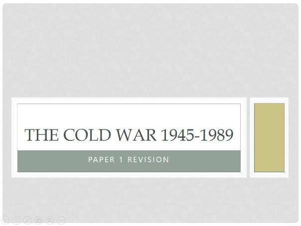 GCSE History: The Cold War Unit (1945-1989)