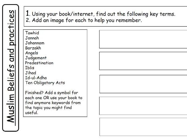 AQA Muslim Beliefs and Practices Revision Booklet