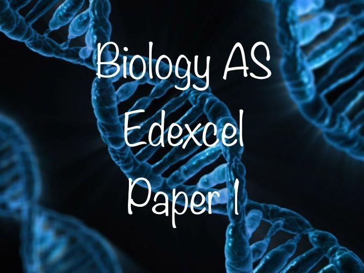 Biology Edexcel AS paper 1