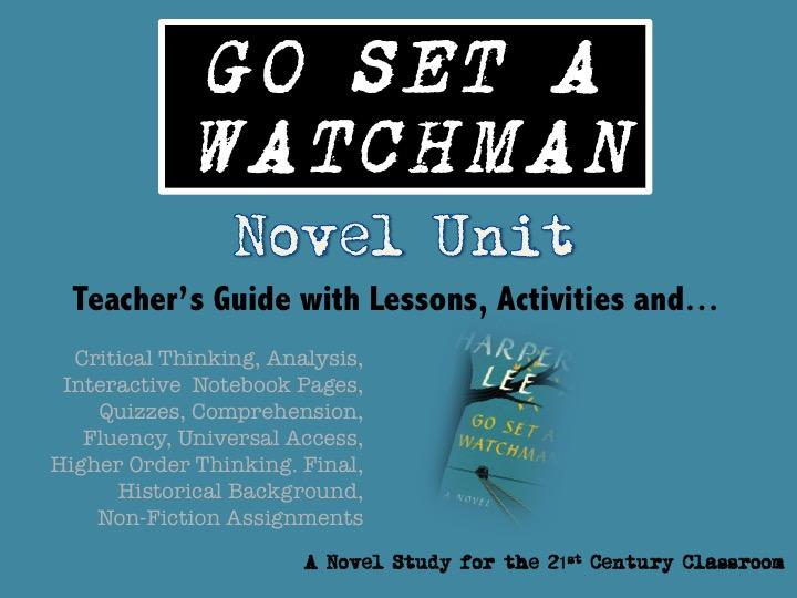 Go Set a Watchman: No Prep Novel Unit