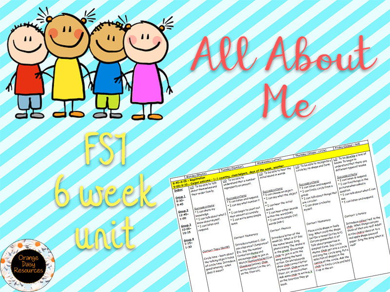 FS1 - All About Me - Full 6 week unit plan