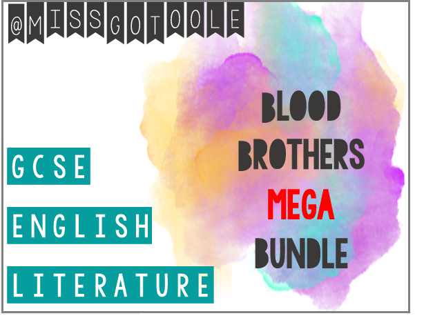 MEGA Blood Brothers Bundle: Lessons, Resources and Classroom Display (AQA)