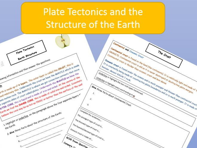 Structure of the Earth / Types of Crust.