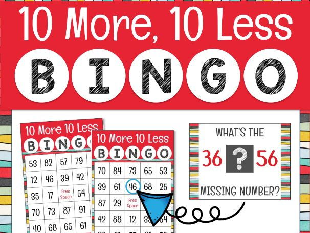 10 More 10 Less Bingo Game for Powerpoint