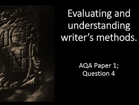 AQA English Language; Paper 1, Question 4.