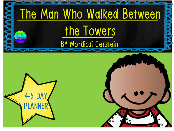 The Man Who Walked Between the Towers by Mordicai Gerstein Lesson Plan and Activities