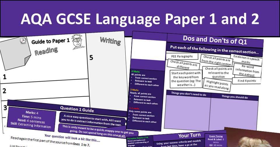 AQA GCSE Language Paper 1 Scheme of Work