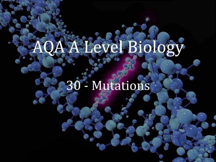 AQA A Level Biology Lecture 30 - Mutations